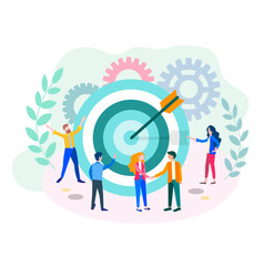 the concept of achieving the goal target vector image