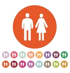 The man and woman icon Family symbol Flat vector