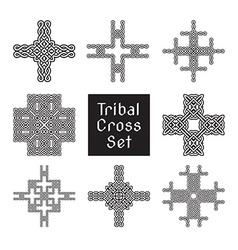 Tribal cross set vector