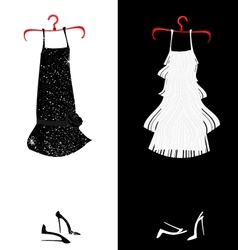 Two dresses vector