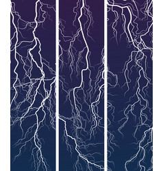 vertical banner of lightning at night vector image