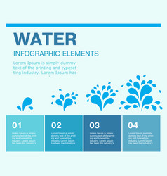 water blue design elements process chart 4 steps vector image