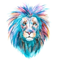 Watercolor lion vector