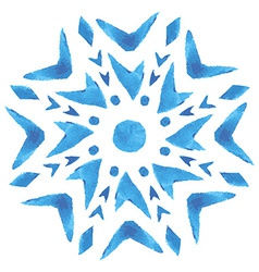 Watercolor snowflake vector image