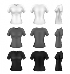 Women's t-shirts vector vector