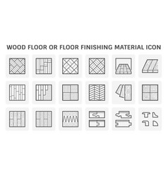 Wood floor or floor finishing and material icon vector