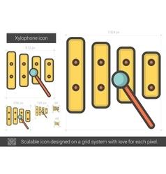 Xylophone line icon vector