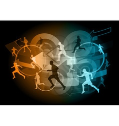 arrow runners vector image vector image