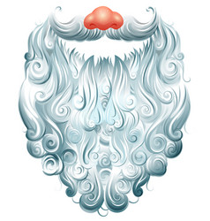 beard mustache and red nose santa claus mask vector image