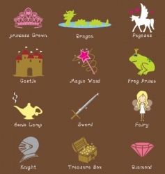 fantasy icons vector image