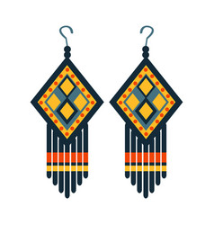 jewelry earrings for woman native american indian vector image vector image