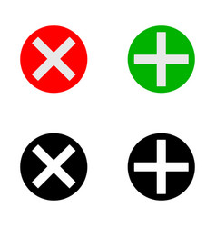 plus and cross icon vector image