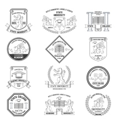 University Labels Set vector image