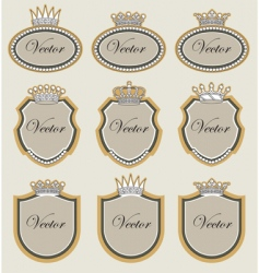 frame with crowns vector image