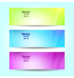 Abstract blurred banner set vector image