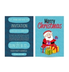 Bright Promotion Flyer for Club Christmas Party vector image