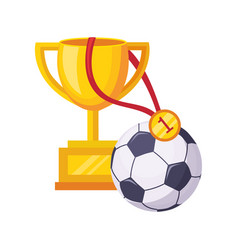 champions cup ball and medal set of school and vector image vector image
