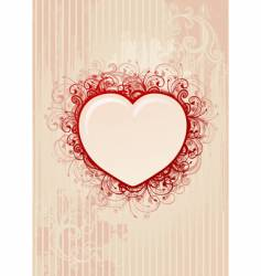 floral heart frame vector image vector image