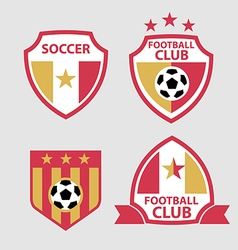 set of badges and labels soccer football club vector image vector image