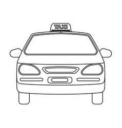 yellow taxi cartransport taxis for passengers vector image vector image
