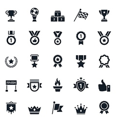 Awards and Trophy Icons vector image vector image