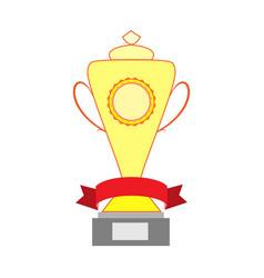 cup and ribbon reward vector image