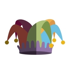 fools hat isolated icon vector image vector image