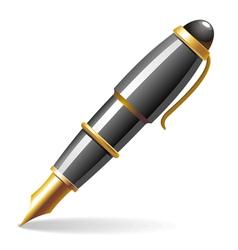 glossy pen vector image