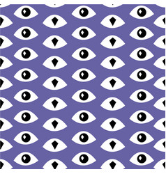 Trendy fashion pattern with eyes vector