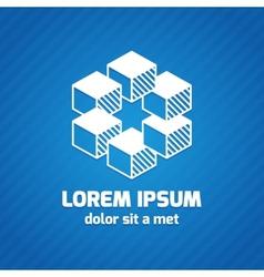 Trendy geometric icon vector image vector image