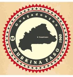 Vintage label-sticker cards of Burkina Faso vector image vector image