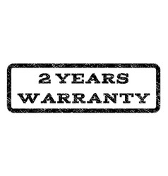 2 years warranty watermark stamp vector image