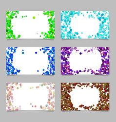 abstract business card background set with vector image