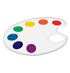 Art palette vector