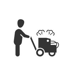 Asphalt road construction icon vector