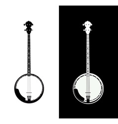 Banjo isolated vector image