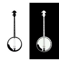 Banjo isolated vector