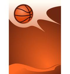 Basketball background vector