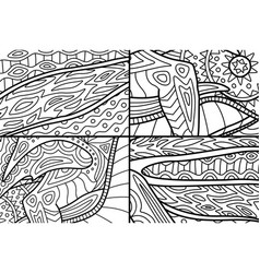 beautiful set of patterns for coloring book pages vector image