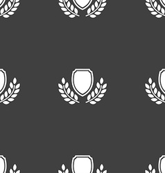 Blank award medal icon sign Seamless pattern on a vector image