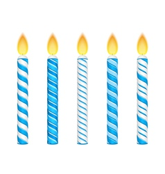 Blue Candles vector image