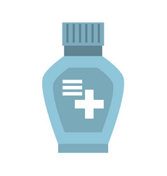 Bottle medicine cross icon vector