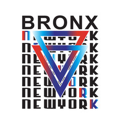 bronx new york typography vector image