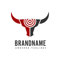 bull head target logo concept vector image