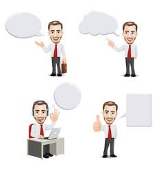 businessman with empty speech bubbles vector image