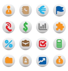 Buttons for business vector image