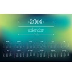 calendar 2014 3 vector image