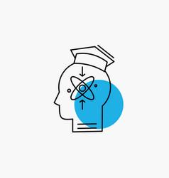 Capability head human knowledge skill line icon vector