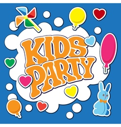 Card for kids party vector image