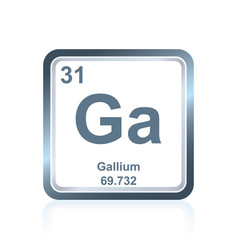 chemical element gallium from the periodic table vector image